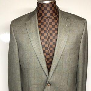 Lauren Ralph Lauren-Beige 2 Button Silk Blazer 40L